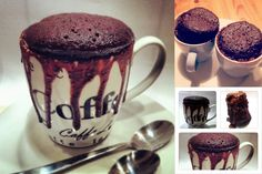 Chokoladekage i en kop på 5 minutter.