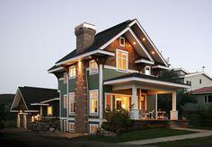 Unique Home Floor Plans, Craftsman Plans, Narrow Home Plans