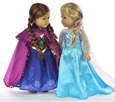 Anna And Elsa From Frozen  ( American Girl Doll ).