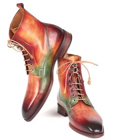 Paul Parkman Men's Green, Camel & Bordeaux Leather Boots Website : www.paulparkman.com