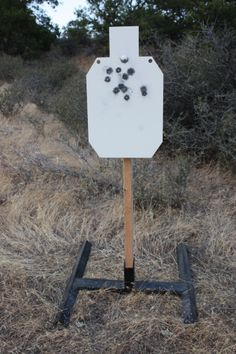 Rogue Shooting Targets, AR-500 steel silhouette target on stand. www.rogueshootingtargets.com