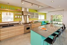 striking turquoise palette - Google Search Love the colors... not wild about the contemporary furnishings.