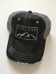 Fishing Hunting Outdoors Hat for Camping Hiking Camp /& Craft RV Camper Trailer National Forests Embroidered Twill Cap
