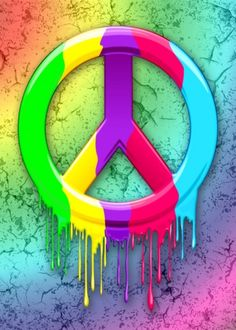 ✌Peace Sign Splatter Art __By: Bluedarkat Lem Hippie Peace, Happy Hippie, Hippie Love, Hippie Vibes, Hippie Chick, Peace Poster, Peace Sign Art, Peace Signs, Peace Love Happiness