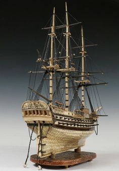 Buy online, view images and see past prices for CASED PRISONER-OF-WAR SHIP MODEL. Nautical Fashion, Nautical Style, Prisoners Of War, Tall Ships, Grey Paint, Model Ships, Ford Models, Sailing Ships, Small Stuff