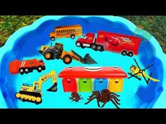 Camión de Construcción para niños - Los Colores Tayo the little bus Gigante Insecto Juguete Monstruo - YouTube Water Tub, Artists For Kids, Dump Truck, Toy Trucks, Working With Children, Police Cars, Happy Kids, Childcare, 2nd Birthday