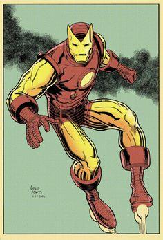 lectorconstante:  Ayer hice un poco el supervillano y hoy voy a la patrulla como solía ir Tony Stark. (lo pinta Rico Renzi)