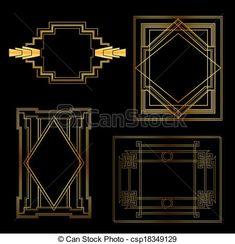 vintage black ink frames - Pesquisa Google