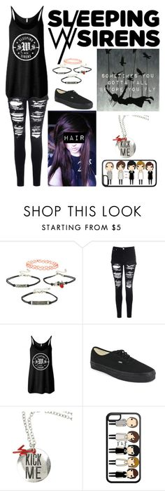 """""""Sleeping With Sirens"""" by theminionqueen ❤ liked on Polyvore featuring Glamorous and Vans"""