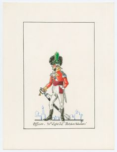 British; 90th Light Inf.'Pertshire Volunteers', Officer, Egypt, 1801 by Jacques Brouillet