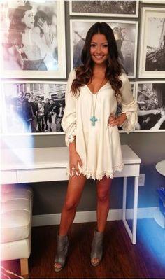 Simple white dress :)
