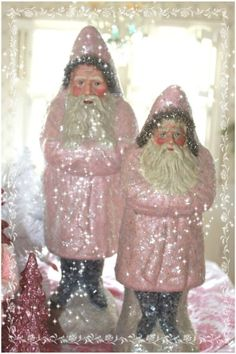 FREE SHIPPING Belsnickles Pink Santa for a Holly by papernosh