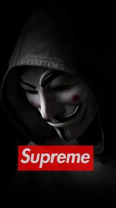 Anonymous Ringtones and Wallpapers - Free by ZEDGE™ Supreme Iphone Wallpaper, Black Phone Wallpaper, Nike Wallpaper, Homescreen Wallpaper, Wallpaper Iphone Disney, Cool Wallpaper, Mobile Wallpaper, Dope Wallpapers, Aesthetic Wallpapers