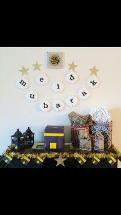 Eid Al Adha decorations Eid Crafts, Ramadan Crafts, Diy Crafts For Gifts, Ramadan Sweets, Aid El Adha, Aid El Fitr, Streamer Decorations, Decoration Party, Islamic Celebrations