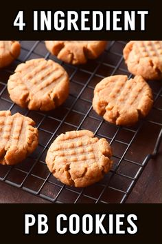 These flourless peanut butter cookies only take one bowl and are a breeze to whip up. Their ultra-rich flavor makes them perfect for peanut butter lovers! Peanut Cookie Recipe, Homemade Peanut Butter Cookies, Flourless Peanut Butter Cookies, Classic Peanut Butter Cookies, Butter Chocolate Chip Cookies, Peanut Butter Oatmeal, Peanut Butter Recipes, Easy Cookie Recipes, Peanut Better Cookies