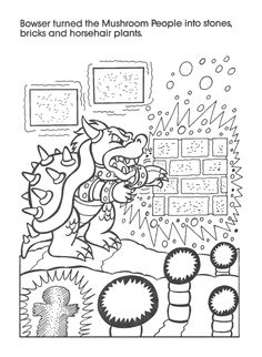 retro mario bowser coloring book pages - Coloring Books Games