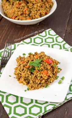 Dinner could not be easier! Try this Mexican rice and lentils for a satisfying, inexpensive, and simple dinner idea tonight! This one-pot healthy meal is gluten free, vegan, low fat and full of flavor, only has a handful of ingredients, and takes almost no work to make | www.pancakewarriors.com