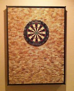 Wine Cork DIY - since we put lots of holes in dad's wall growing up...