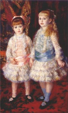 Pierre-Auguste Renoir (French 1841–1919) [Impressionism] Pink and Blue (Alice and Elisabeth Cahen d'Anvers), 1881.