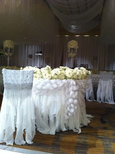 Nene Leakes custom chair and head table with Wildflower Linen