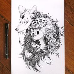Princess Mononoke fan-art