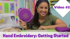 Video #2 in NEW Hand Embroidery Video Tutorial Series by @CraftyGemini.