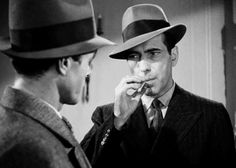 Humphrey Bogart and Elisha Cook, Jr. in The Maltese Falcon  (John Huston, 1941)