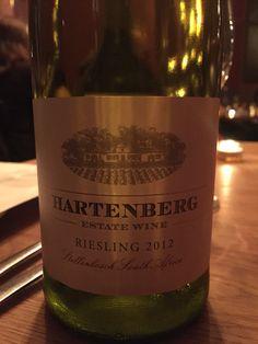 Hartenberg riesling, Stellenbosch. La Mouette.