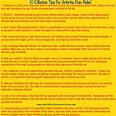 10 Effective Tips For Arthritis Pain Relief
