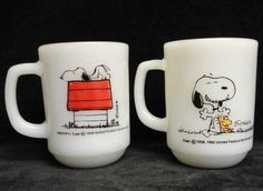 "vintage Fire-King ""Snoopy"" coffee mugs"