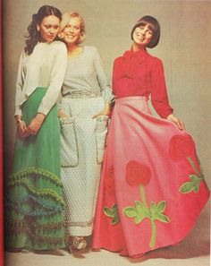 70's Maxi skirts.The ones on 'The Little House On The Prairie' were much more attractive.