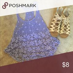 Lace Tank Purple lace tank! Great for summer or under a jean jacket or sweater. Worn once or twice Tops Tank Tops