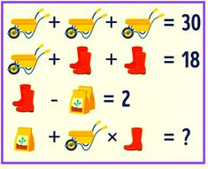 Math Picture puzzle with answer
