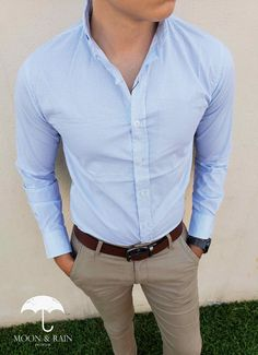 Camisas slim fit в 2019 г. Smart Casual Men, Business Casual Men, Outfit Hombre Formal, Jean Beige, Casual Outfits, Fashion Outfits, Herren Outfit, Gentleman Style, Mens Clothing Styles
