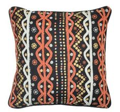 not totally my style but this could look great on a simple light gray couch Vibrant 18x18 Pillow, Orange