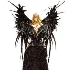 Dark Angel: a sneak peek of Doutzen's #VSFashionShow look!