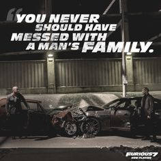 """""""I told your brother the samething"""" Furious Movie, The Furious, Paul Walker, Fast And Furious Actors, Fast Quotes, Your Brother, Ride Or Die, About Time Movie, Great Movies"""