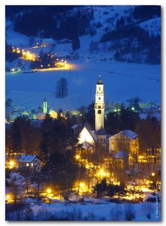 Christmas in Cavalese, Trentino, Italy