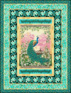 Jewel of the Garden peacock quilt                                                                                                                                                                                 More