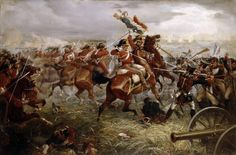 Kennedy and Styles of the Royals take the eagle of the 105e during the charge of the Union Brigade.