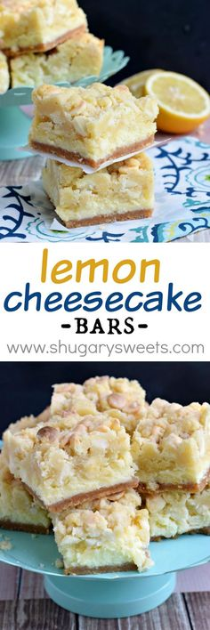 Lemon Cheesecake Bars: delicious layers of cookie…
