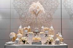 An ivory and white wedding candy buffet is classic and elegant. Here's what lollies we use at Candy Bar Sydney. Buffet Dessert, Lolly Buffet, Dessert Bars, Dessert Tables, Candy Bar Wedding, Wedding Desserts, Wedding Decorations, Buffet Wedding, Candy Table