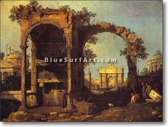 Capriccio: Ruins and Classic Buildings - £124.99 : Canvas Art, Oil Painting Reproduction, Art Commission, Pop Art, Canvas Painting