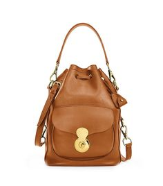 d6787d9dc8c0 Ralph Lauren Ricky Drawstring Bag Leather Handbags