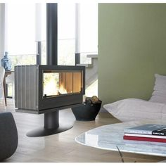 This double-sided cast iron beauty is the ideal freestanding stove to divide and heat a large space.