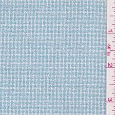Aqua Blue/White Suiting - Fabric By The Yard