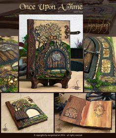 """Once Upon a Time"" - guest book A unique, mixed media, guest book and a book stand with.  ***Sold*** For custom orders, please contacting me at morgenland@gmail.com"