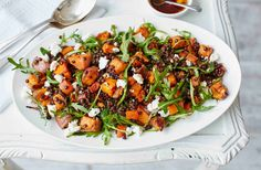 Sweet potato, lentil and feta salad | Tesco Real Food