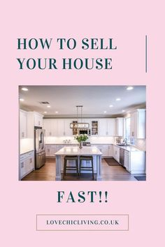 Lots of ideas, tips and tricks for making a quick house sale. When you need to sell your home fast, you need these tips. Do the prep, throw up a sign and a banner, and don't forget the staging. Preparing well for a house sale will really be a good investment.   #housesale #lovechicliving Sell Your House Fast, Selling Your House, Uk Homes, Home Decor Inspiration, Home Buying, Home Alone, Home And Family, Staging, Don't Forget
