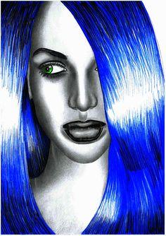 pop art | Tumblr BLUE-HAIRED GIRL